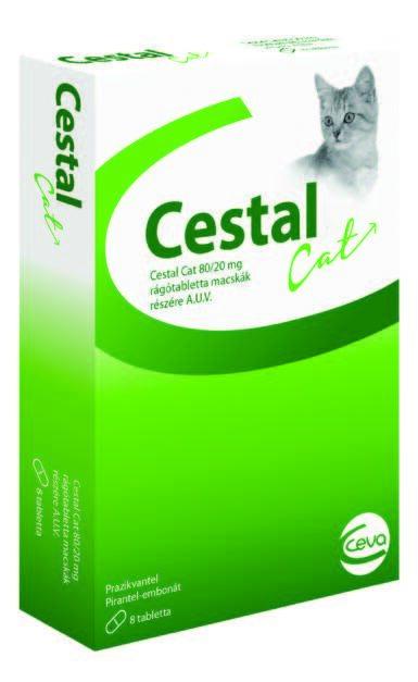 CESTAL CAT 80/20mg košļājamās tablets kaķiem