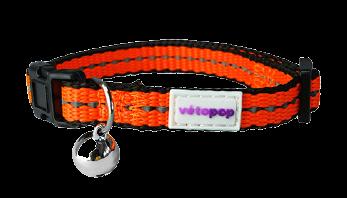 VetoPop kakla siksna kaķim, oranža