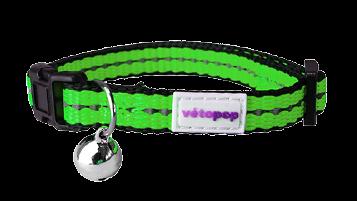 VetoPop kakla siksna kaķim, zaļa