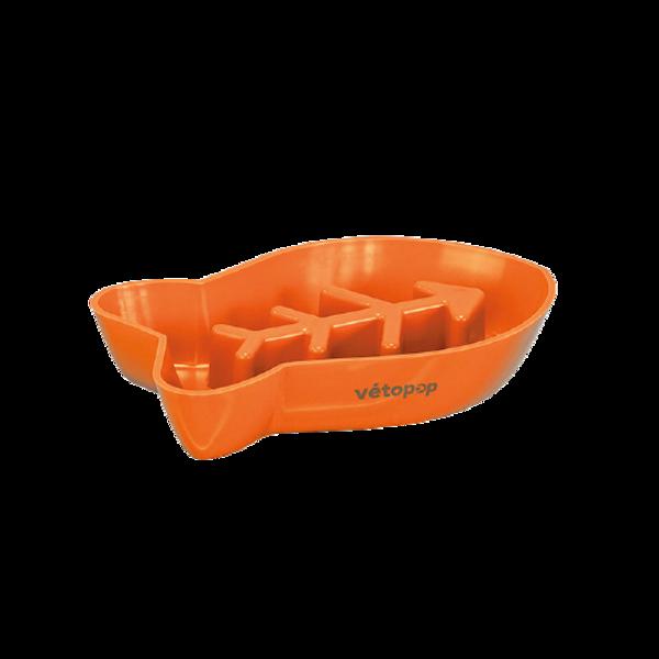 VetoPop lēnēšanas bļoda kaķim, oranža