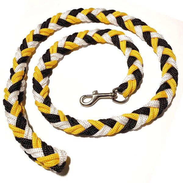 UGA pītā pavada, melns-dzeltens-balts (1:1:1)