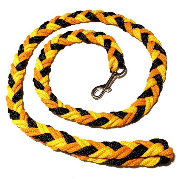 UGA pītā pavada, melns-dzeltens-oranžs (1:1:1)