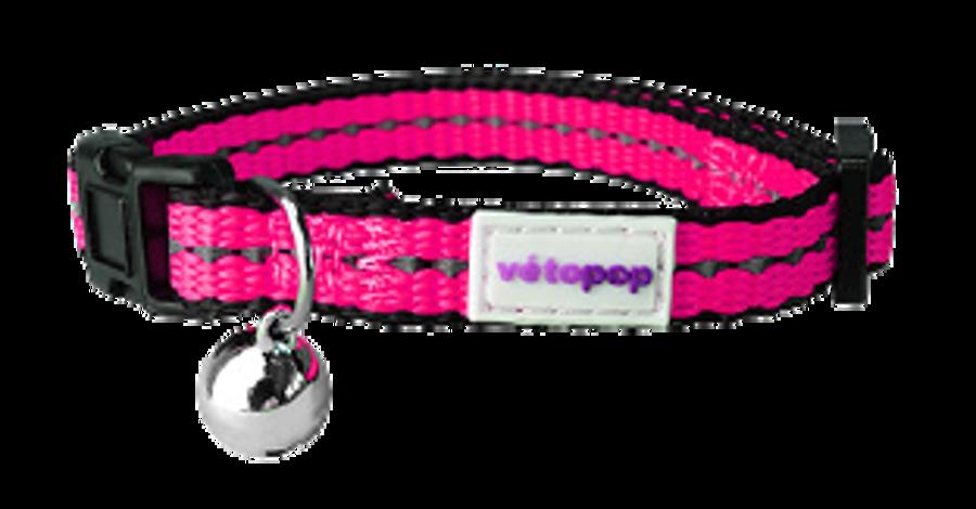 VetoPop kakla siksna kaķim, fuksijas krāsā